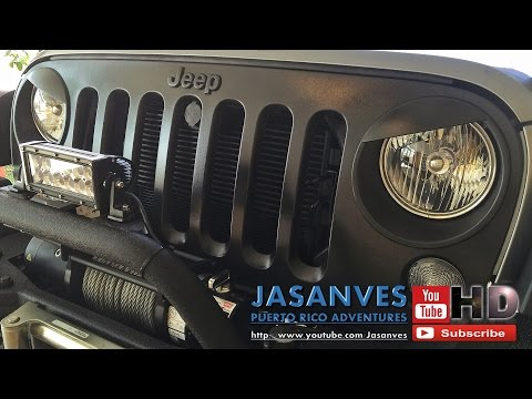 DIY Jeep JK Front Grill Mod - Step by Step Grill Removal, Eyebrow Trim Installation and Plasti Dip application