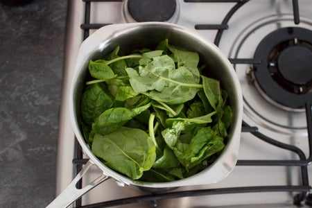 Meanwhile, the Spinach... (Optional)