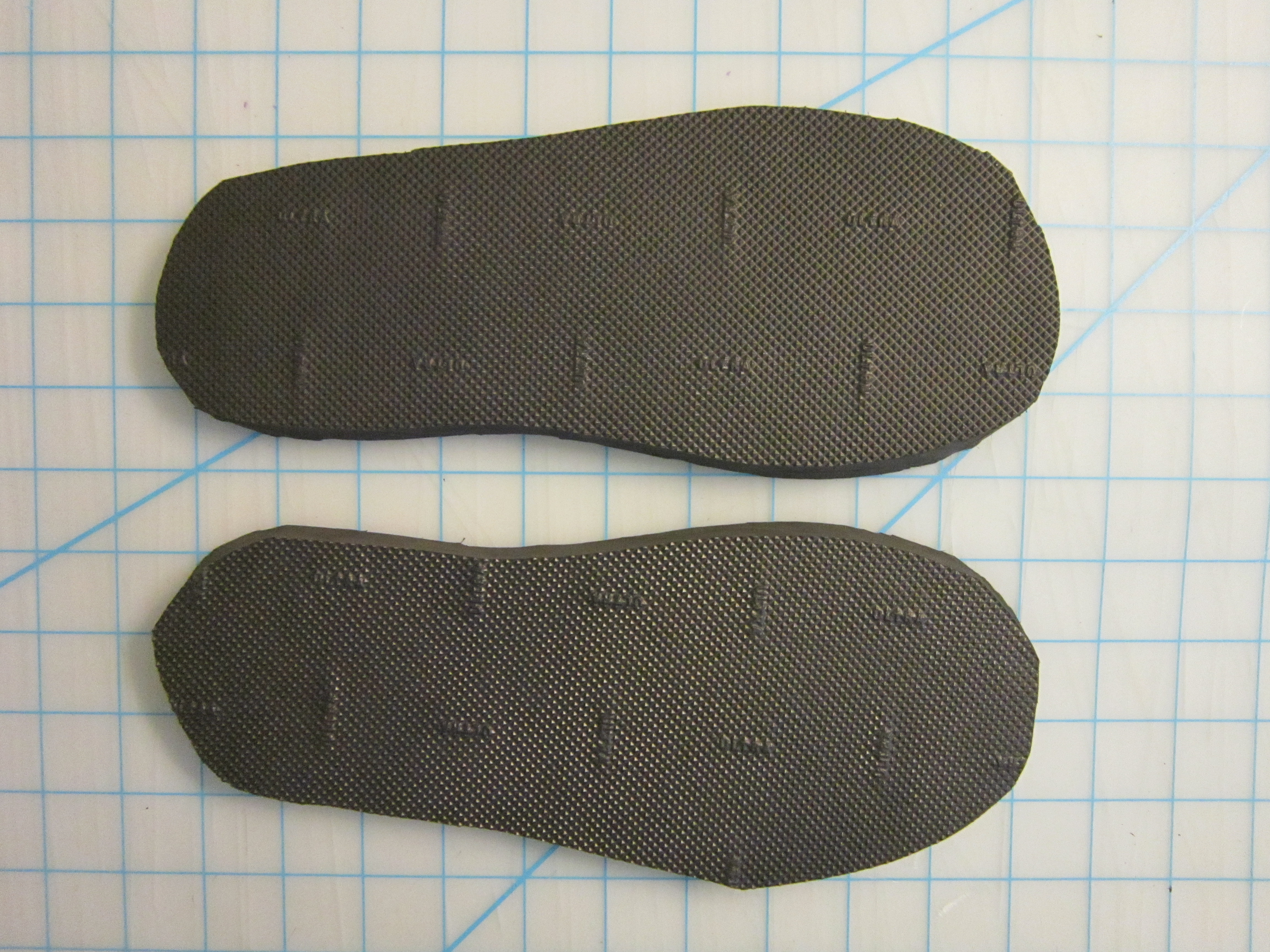 Picture of Cutting the Rubber Soles