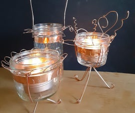Whimsical Wire Mason Jar Lanterns