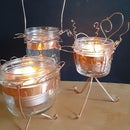 Whimsical Wire Mason Jar Lanterns