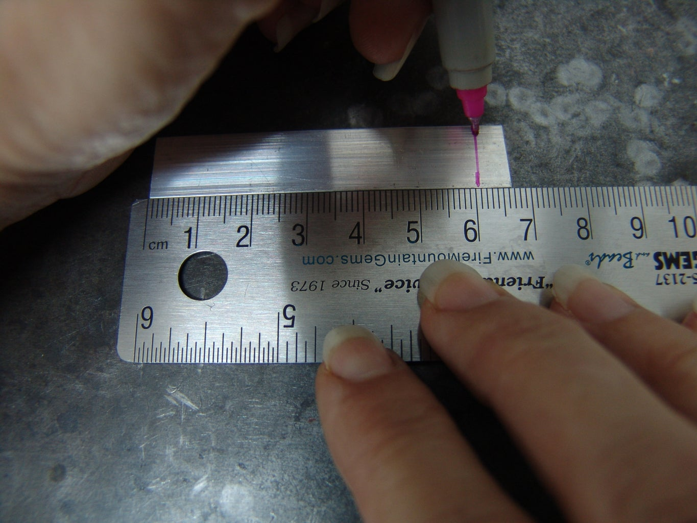 Transferring Your Measurements to the Metal Strip
