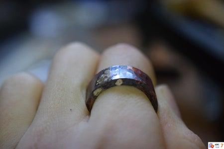 Hammer Ring Blank Round.