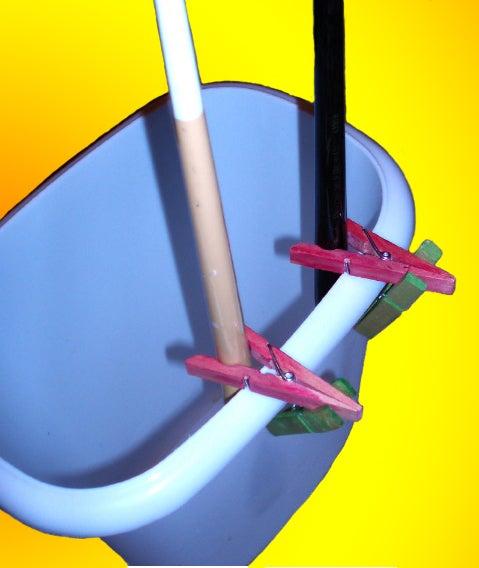 Hang Big Brushes Securely