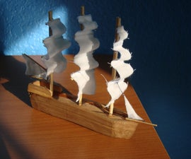 Carve/Make a Mini Ship From Scratch