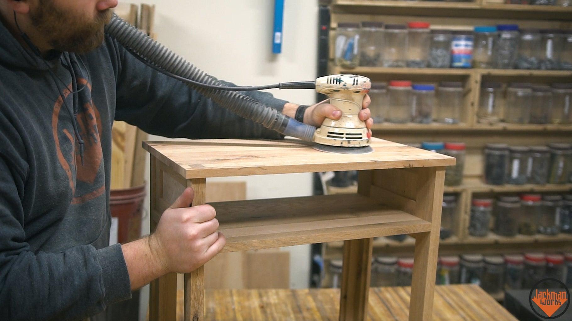 Cutting Overhang Flush and Final Sanding