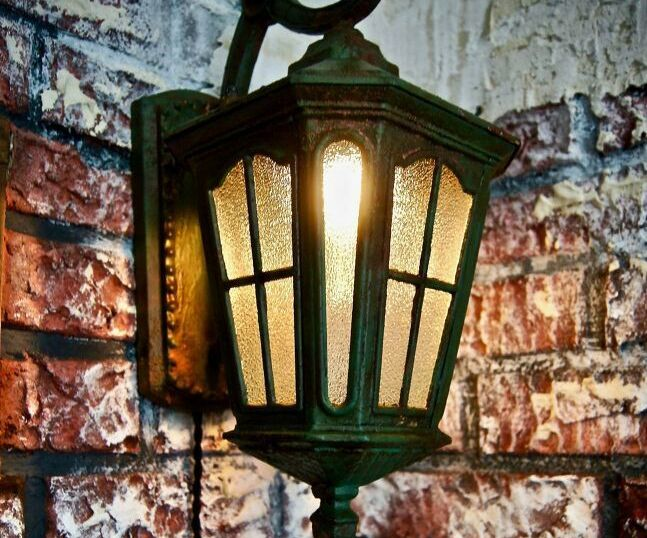 Faux Rusty Wall Light!