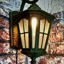Faux Rusty Wall Light!