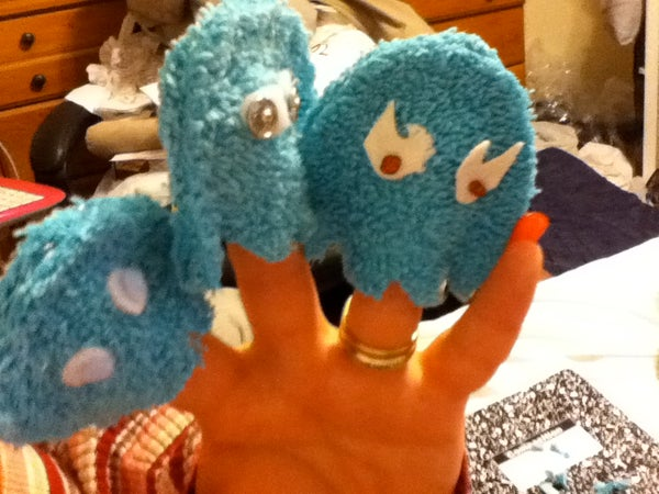 No Sew Pac Man Ghost Finger Puppets
