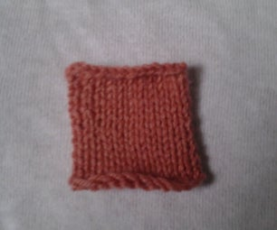 Second Beginner Knit Project: Stockinette/Purl Stitch Square