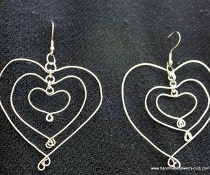 3 Hearts Earrings