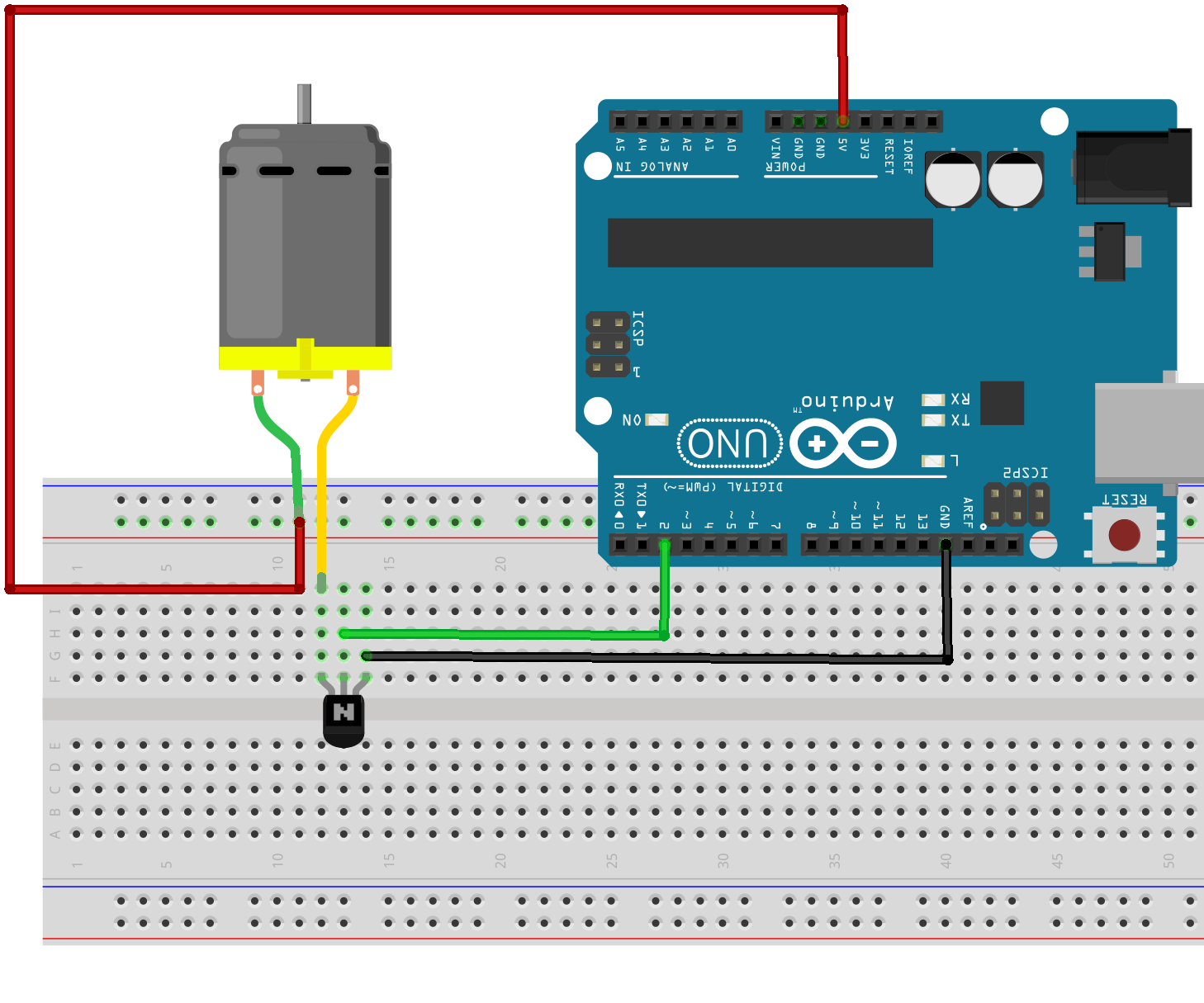 Control of a DC motor with Arduino and Visual Basic