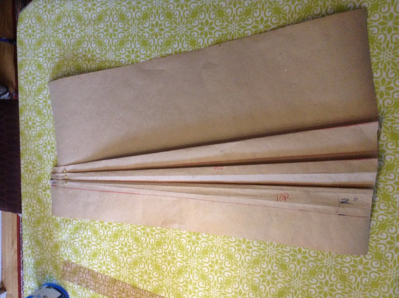 Adding the Pleats