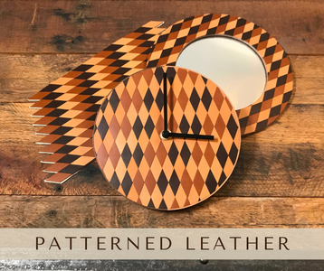 How to Make Patterned Leather (and Use It to Make a Clock and Mirror Frame)