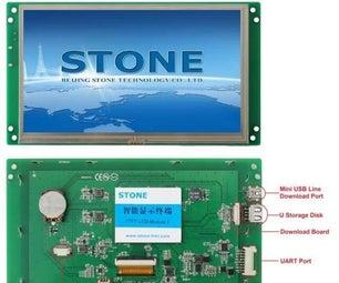 NRF51822 Uart Test With STONE STVC070WT-01-01 HMI Display
