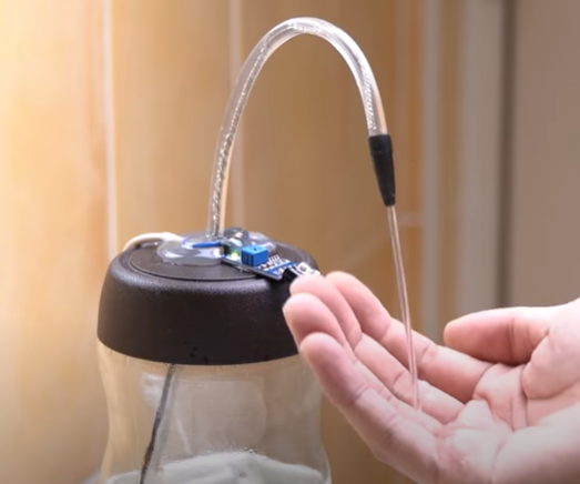 DIY Hands-free Hand Sanitizer Dispenser for Less Than $5