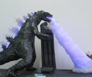 DIY Light Up LED Godzilla Lamp
