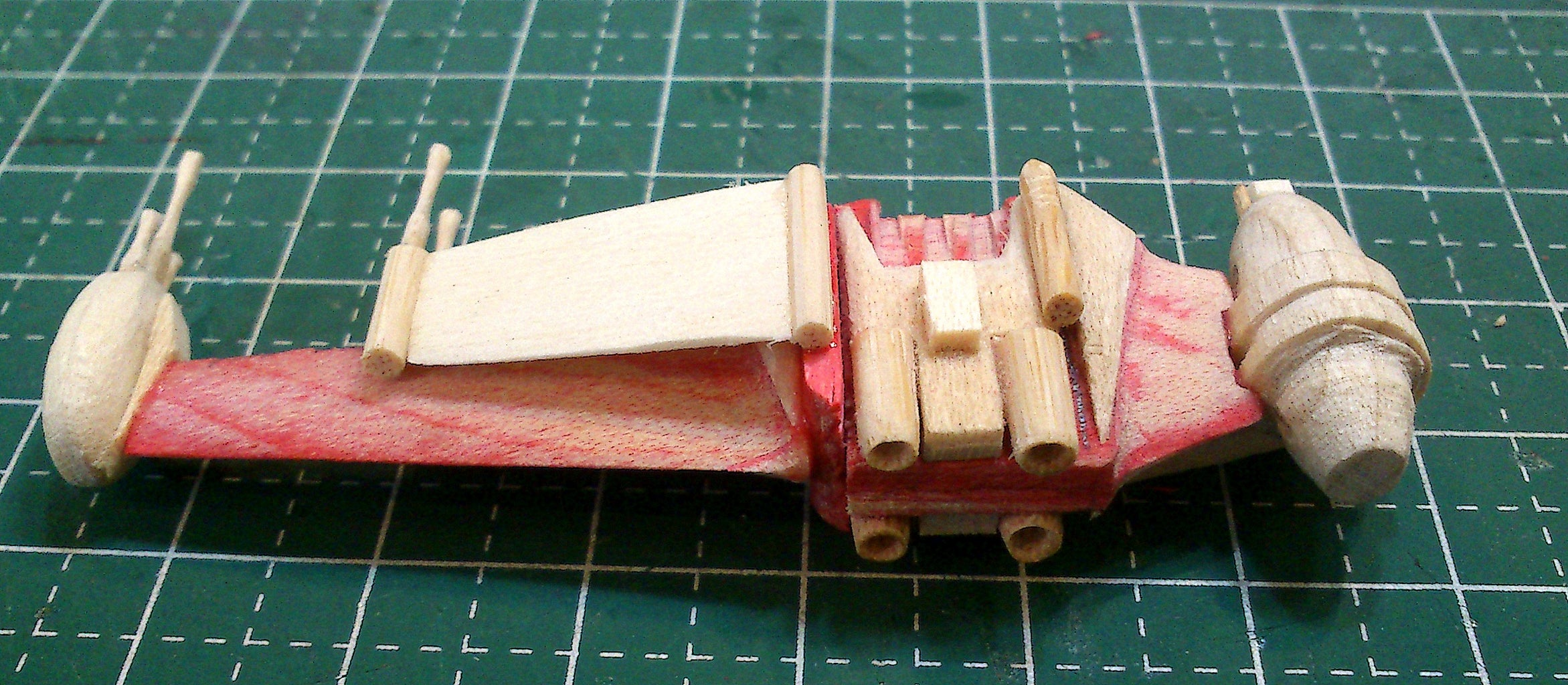 Mini B-Wing Popsicle Stick Model