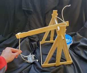 Trebuchet With Paint Sticks