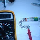 AA battery voltage tester