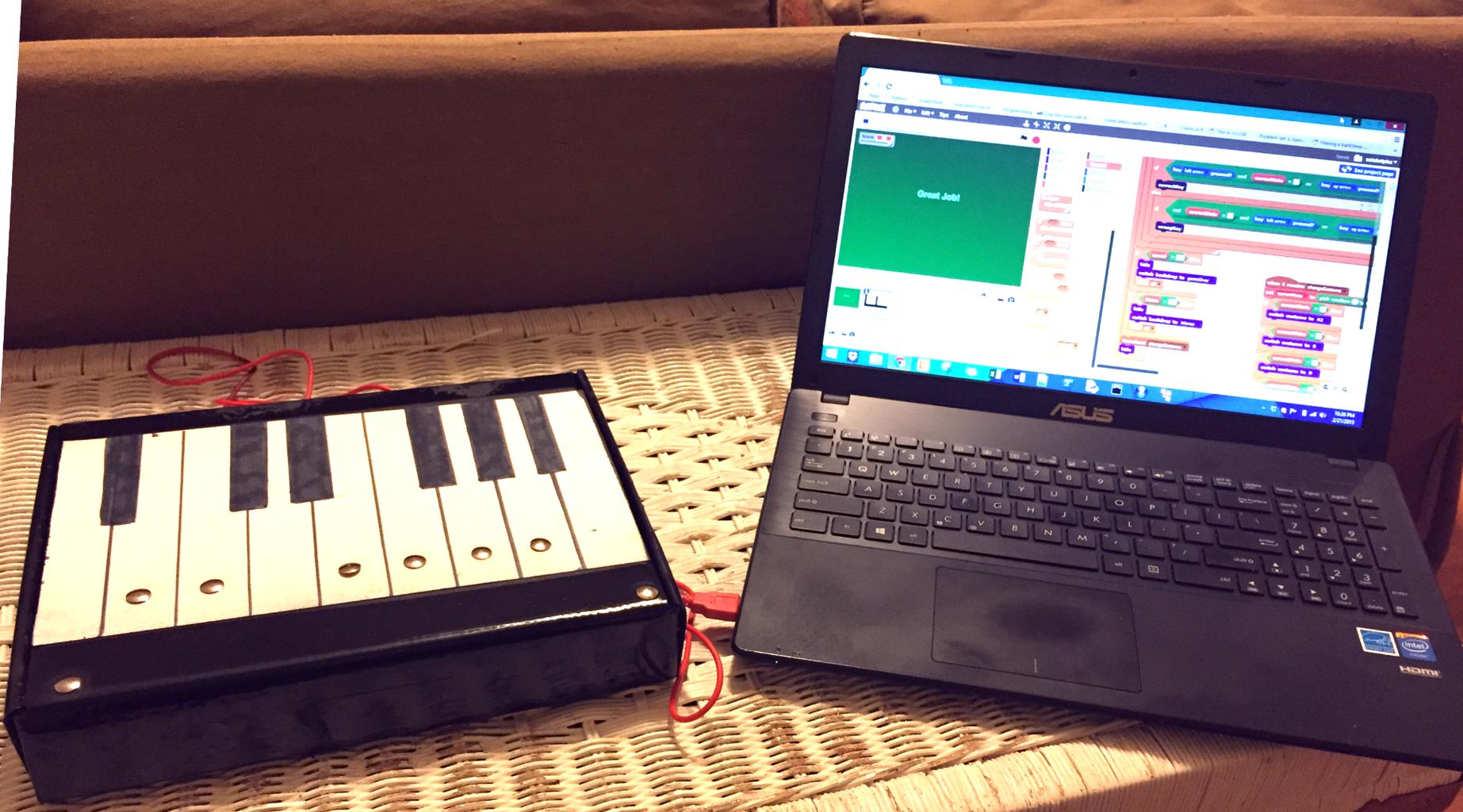 Learn Piano Keys With Makey Makey