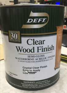 Apply Clear Wood Finish and Sand 2nd Background