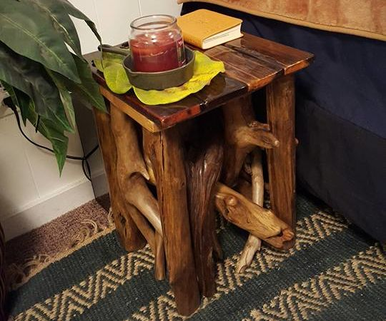 Driftwood Bedside Table