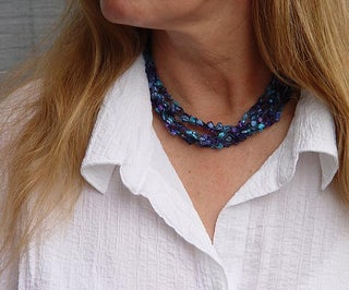 Adjustable Crocheted Necklace