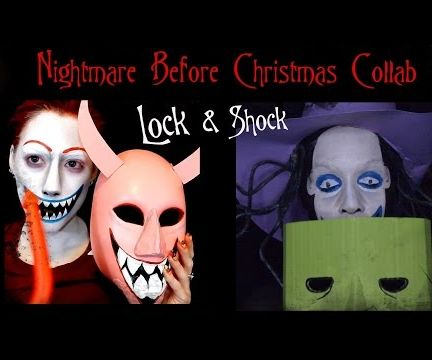Nightmare Before Christmas Lock Face Paint and Mask