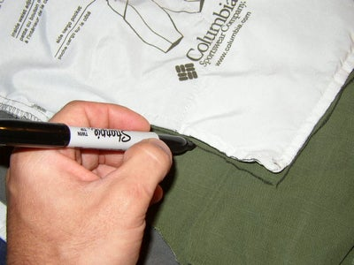 Trace the Outline of the Pocket Onto the Scrap Material.