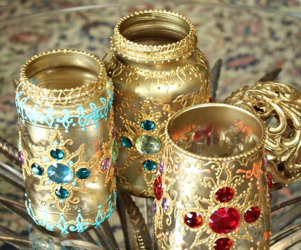 Bejeweled Jar Lanterns
