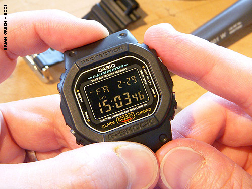 How to convert a plain G-Shock DW-5600 to a negative display