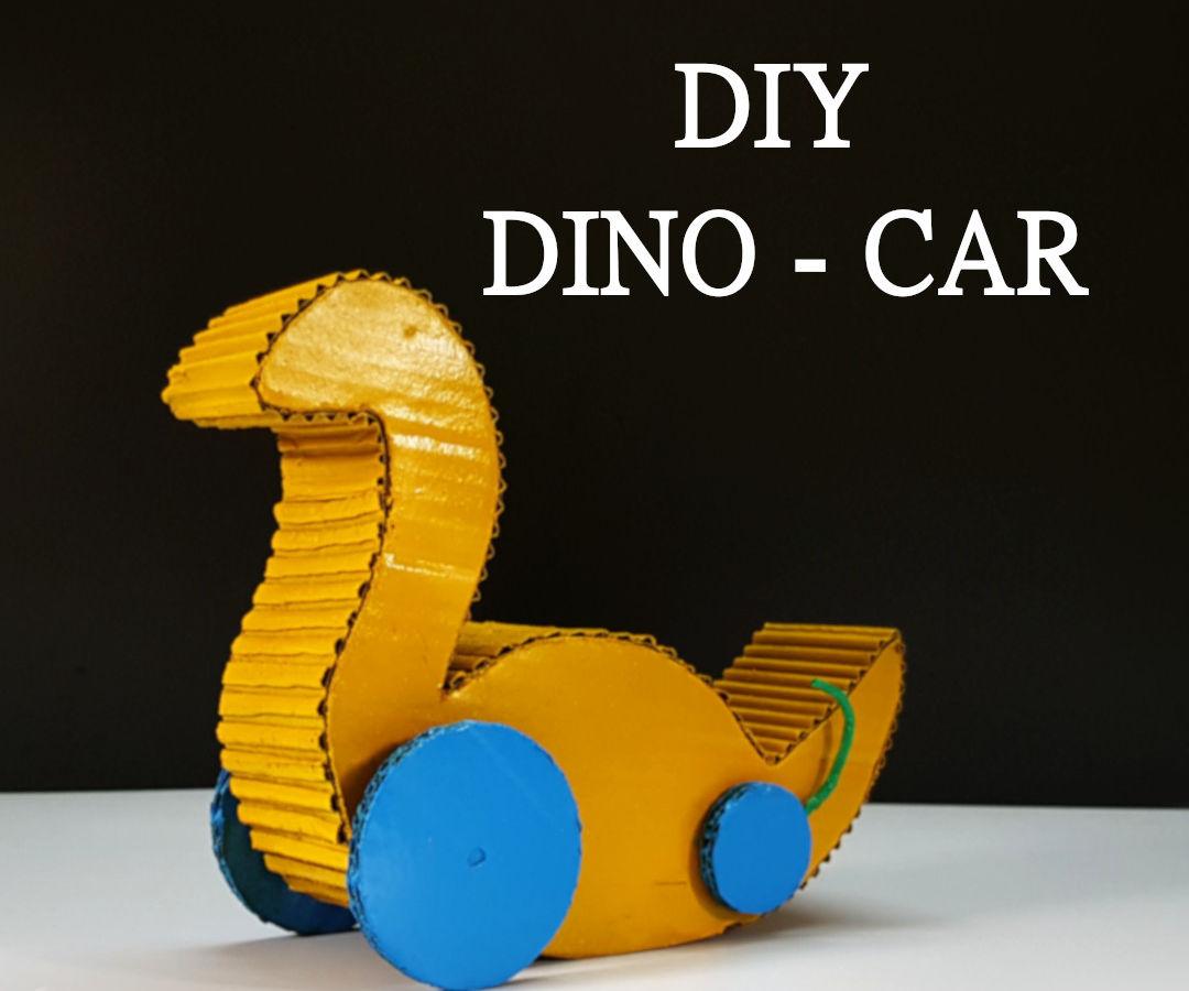 DIY - Hopping Dino Car
