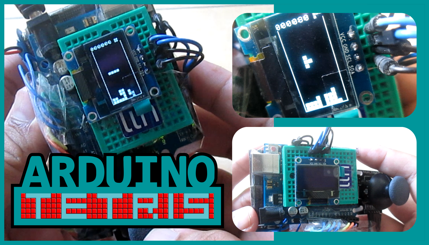 Tetris Clone with OLED SSD1306(I2C) for Arduino Nano / Uno