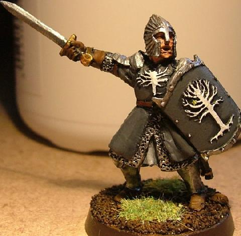 Painting a new version of the Games Workshop: Warrior of Minas Tirith