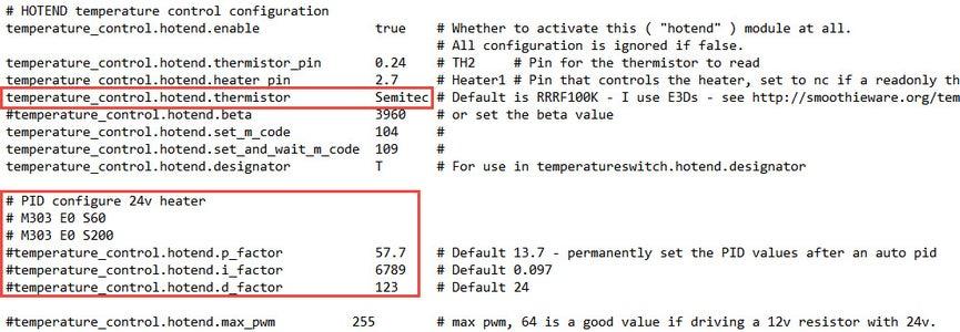 Firmware Step 4: Hotend Temperature Control Configuration