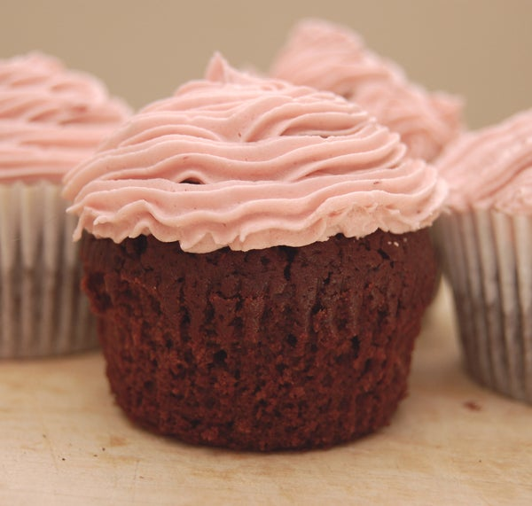 Dr Pepper Cupcakes With Cherry Almond Frosting
