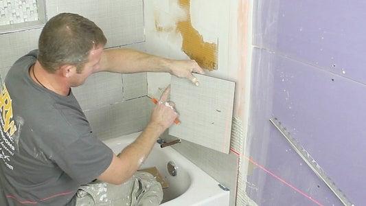 Place Cut Tile Edges Againts Schluter Edge