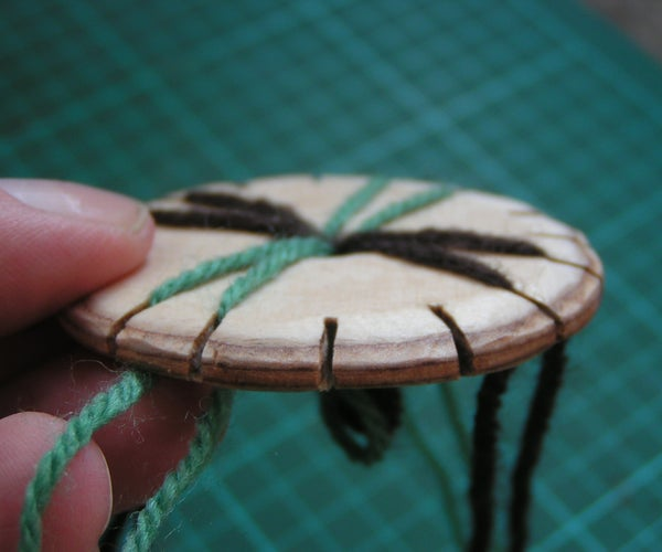 How to Weave an 8-strand Braid on a Wooden Loom.