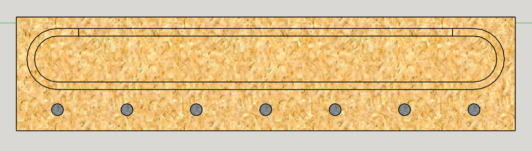 FLOATING SHELF W/ EPOXY Inlay // CONCRETE Pegs