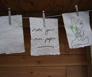 Make Beautiful Paper From Waste Cardboard