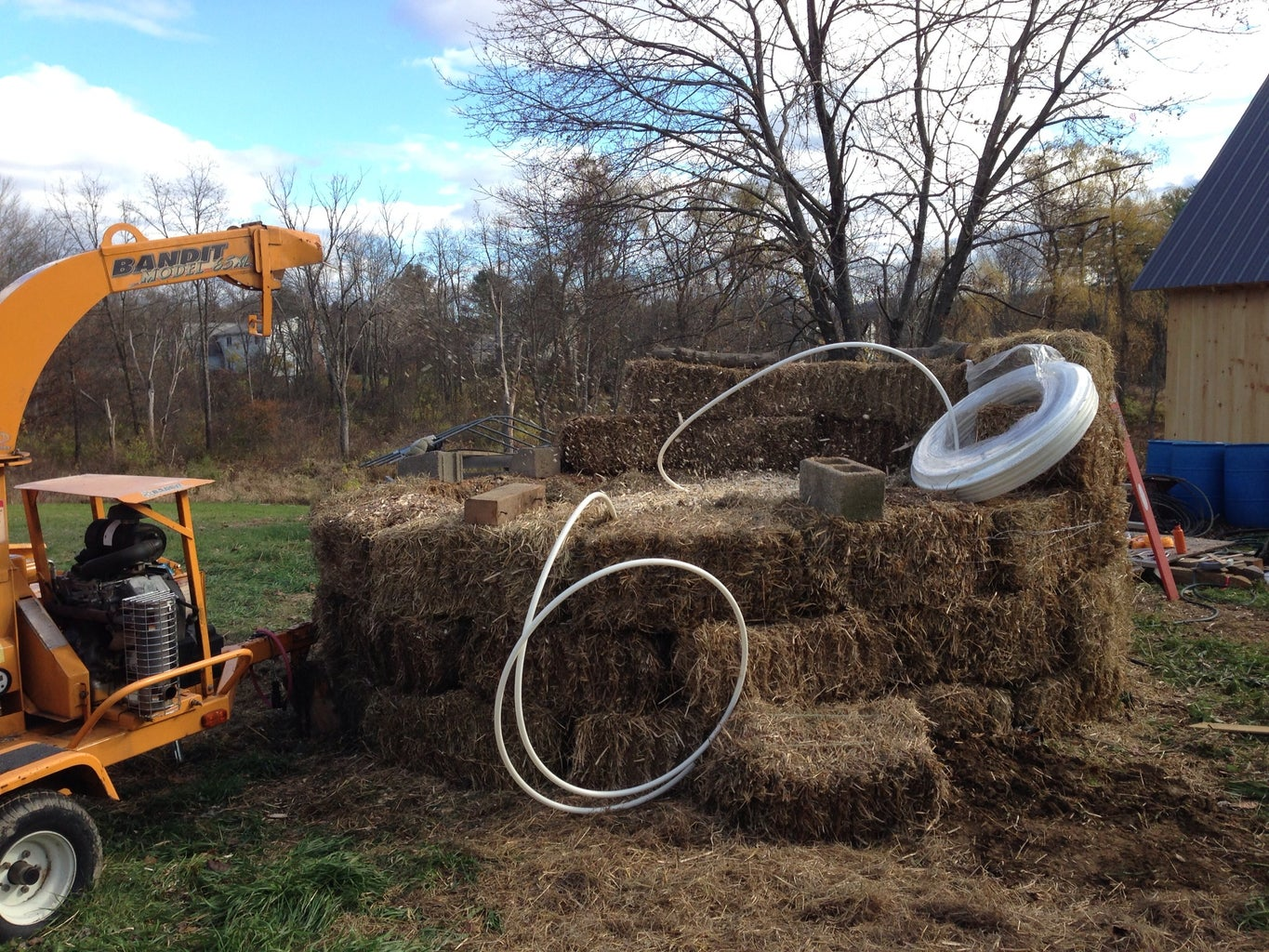 Continue Laying Water Pipe + Building Up the Mound