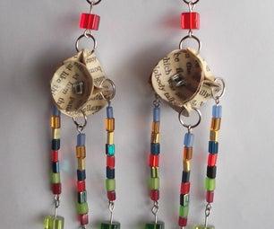 Book Bead Earrings
