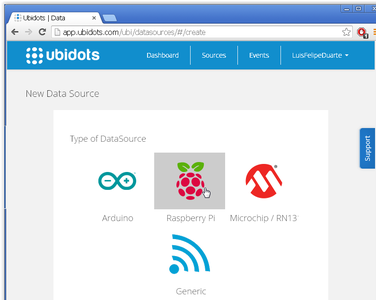 Select Raspberry Pi As Your New Data Source and Fill the Form.