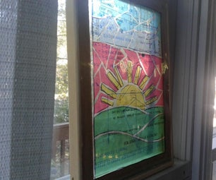 Plastic Sheet Stained Glass Mosaic