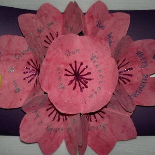 Seven Flowers. Awesome  Pop Up Card .