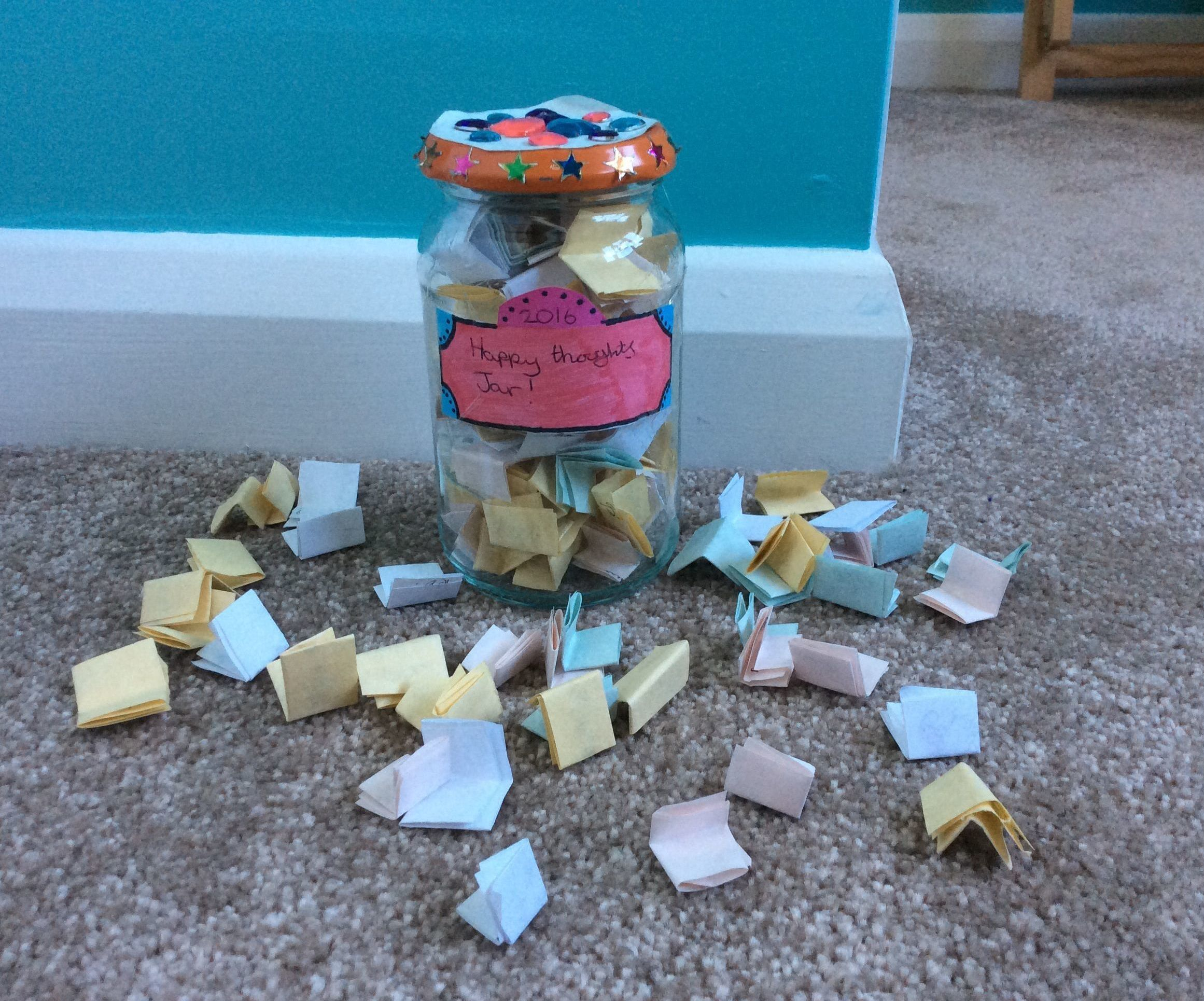 Happy thoughts jar