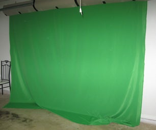 Make a Pull Down Green Screen Wall