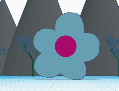 A Mountain Range With Trees and Flowers