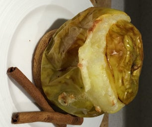 Baked Apple With Brie and Honey